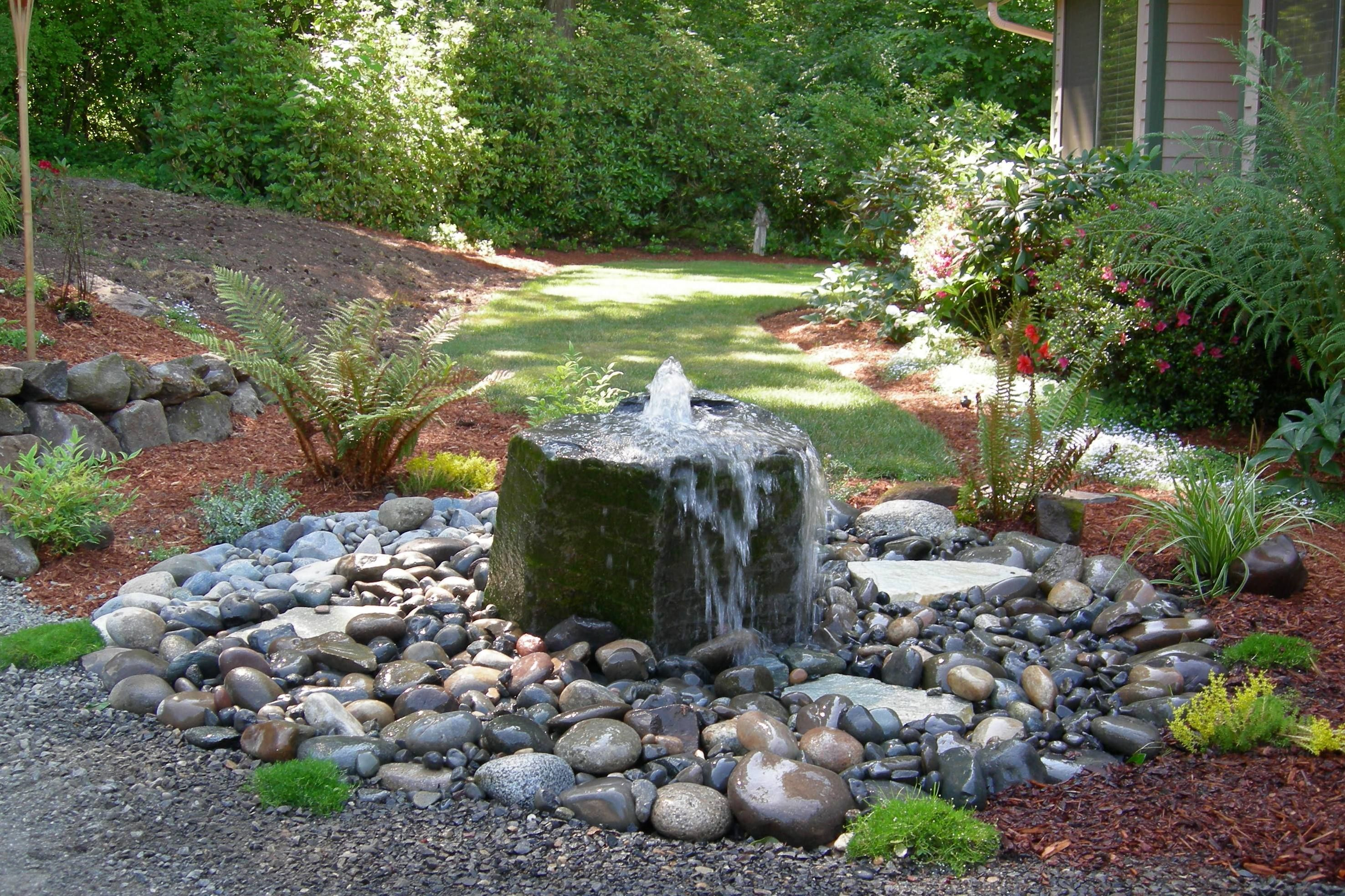 garden pond fountain ideas photo - 10