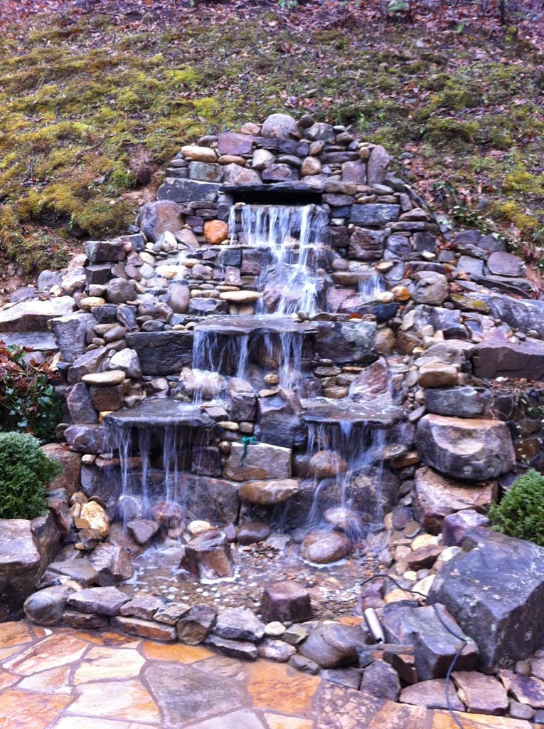 garden pond fountain ideas photo - 2