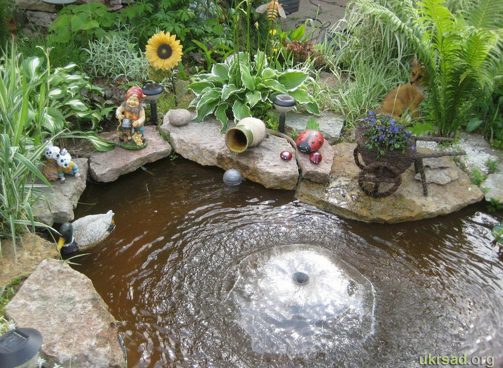 garden pond fountain ideas photo - 3