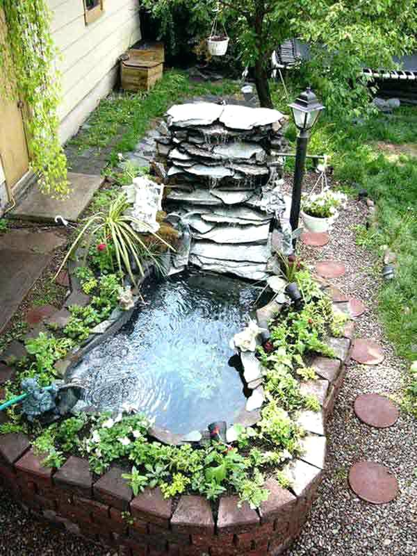 garden pond fountain ideas photo - 7