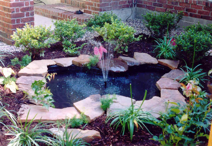 garden pond fountain ideas photo - 9
