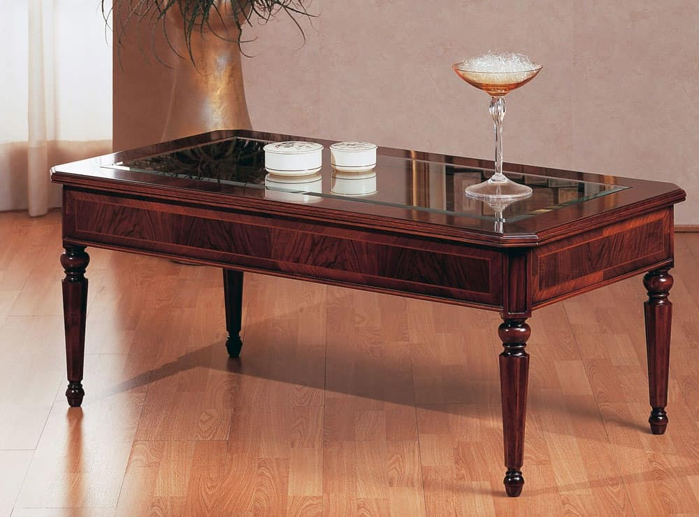 glass coffee table design classic photo - 2