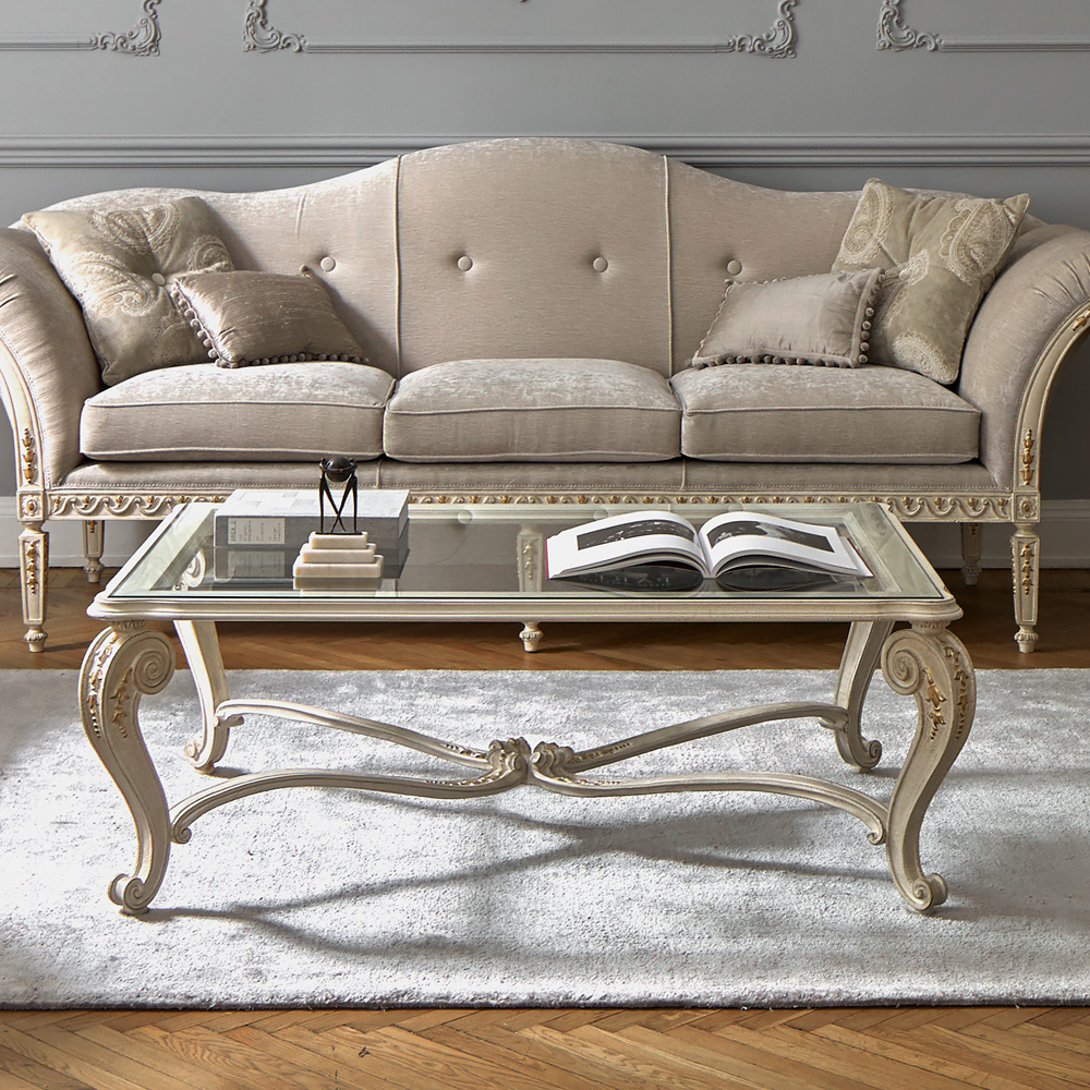 glass coffee table design classic photo - 4