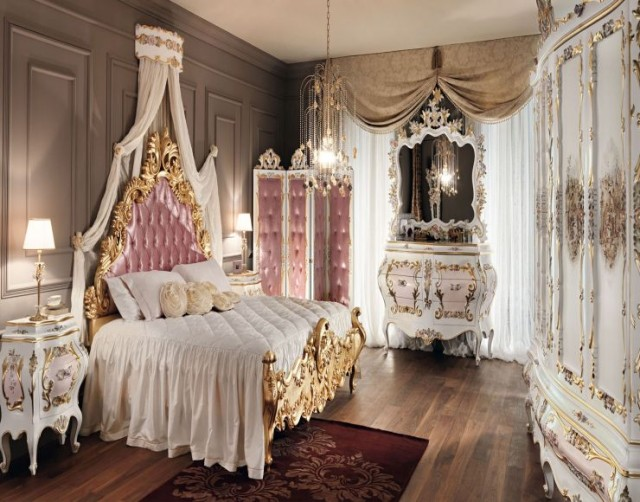 gold mirrored bedroom furniture photo - 5