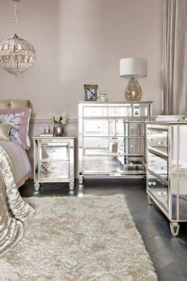 gold mirrored bedroom furniture photo - 7