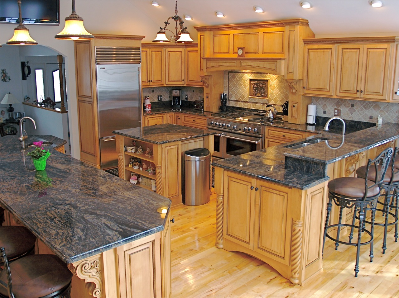 granite kitchen designs photo - 3