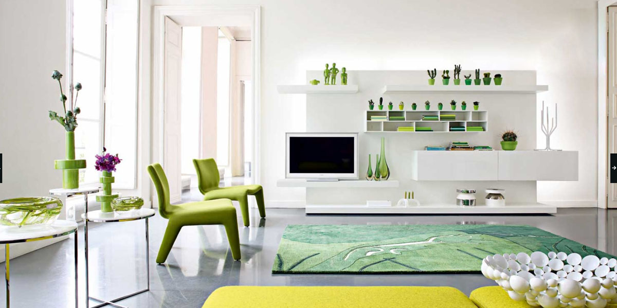 green room with white furniture photo - 10