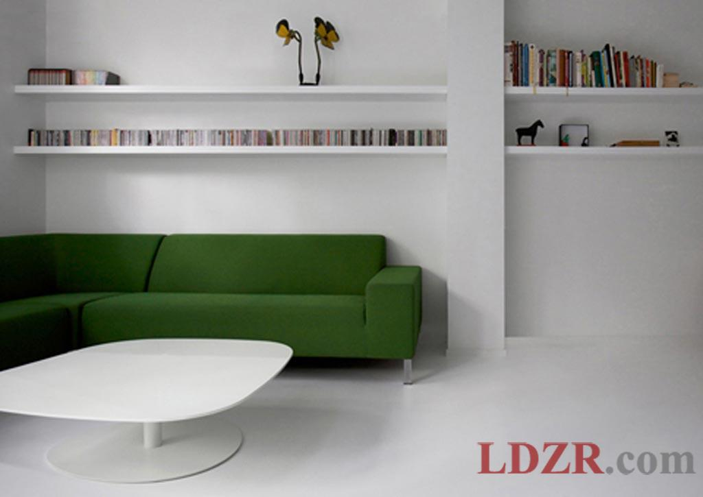 green room with white furniture photo - 5