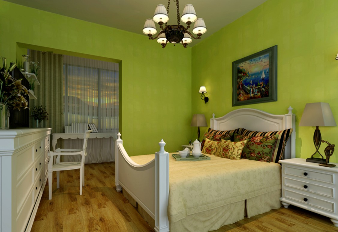 green room with white furniture photo - 6