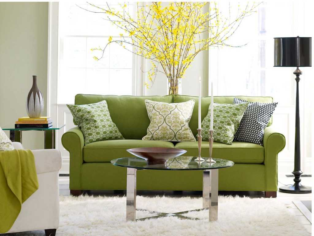 green room with white furniture photo - 7
