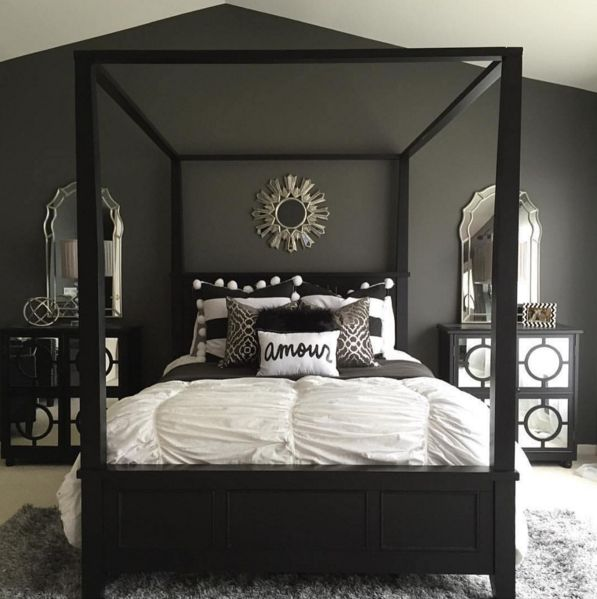 grey and black bedroom design photo - 5