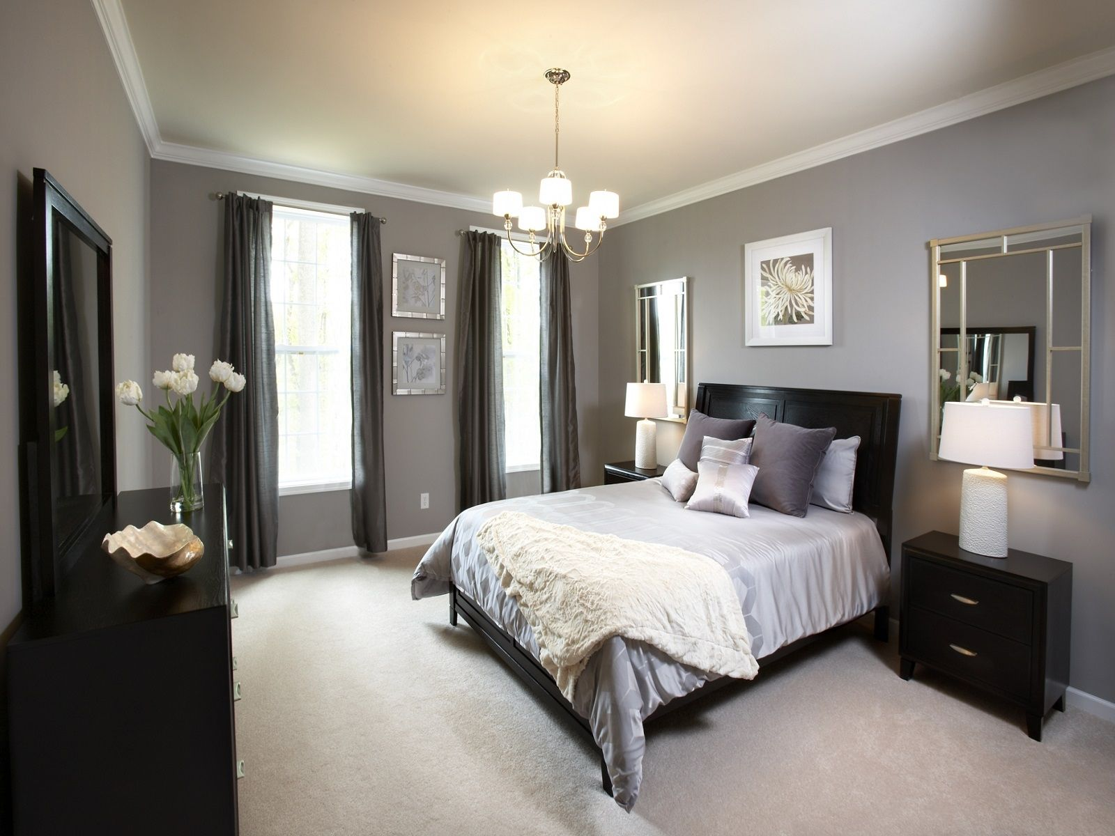 grey bedroom ideas decorating photo - 10