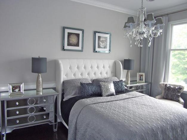 grey bedroom ideas decorating photo - 2