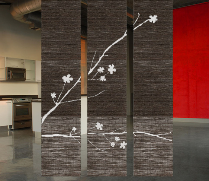 hanging door room divider photo - 3