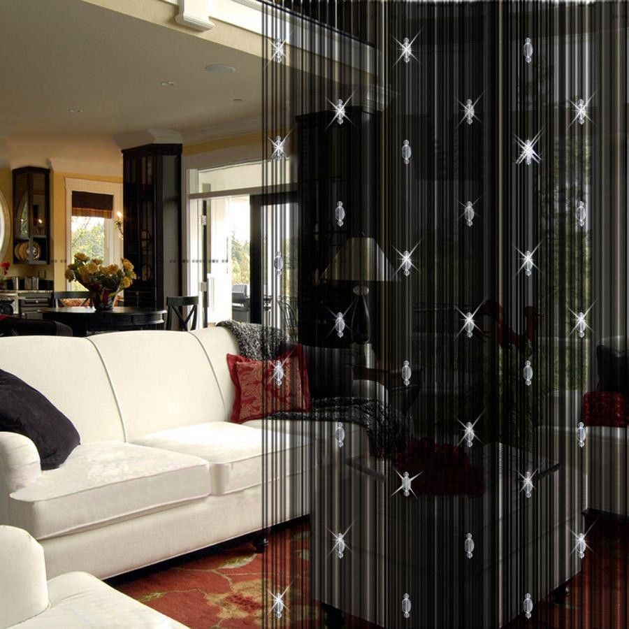 hanging room divider curtains photo - 10