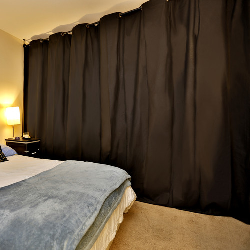 hanging room divider curtains photo - 2