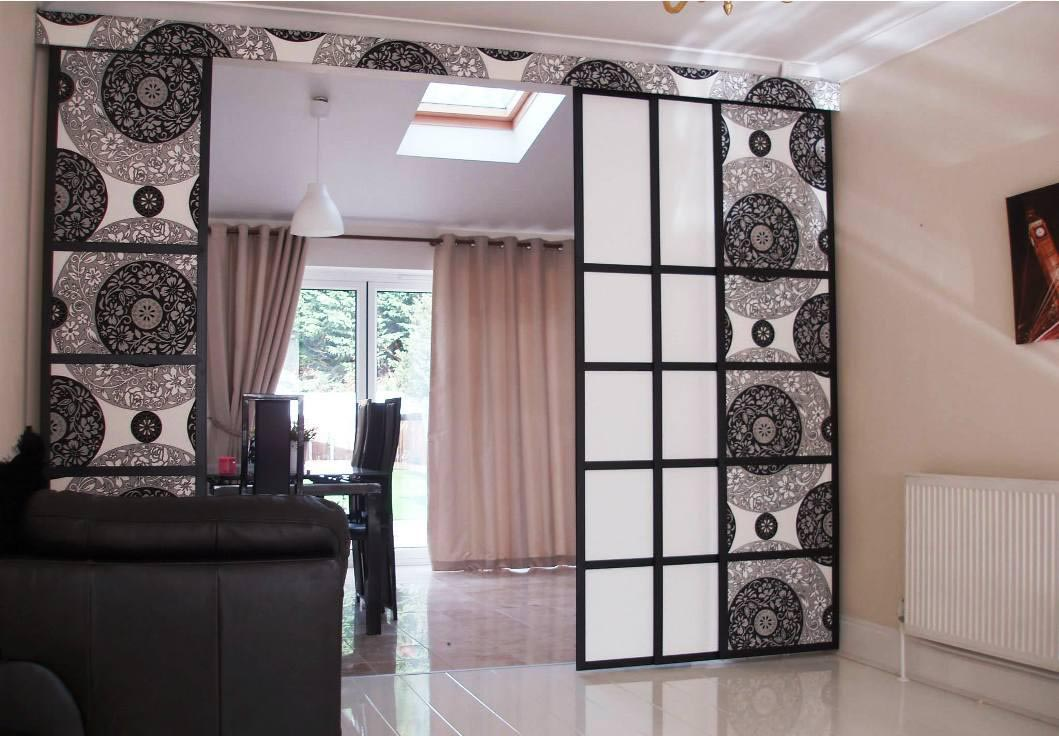 hanging room divider curtains photo - 7