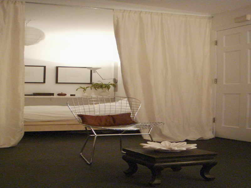 hanging room divider curtains photo - 9