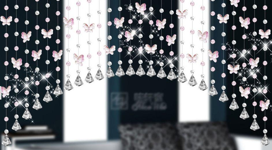 hanging room dividers beads photo - 3