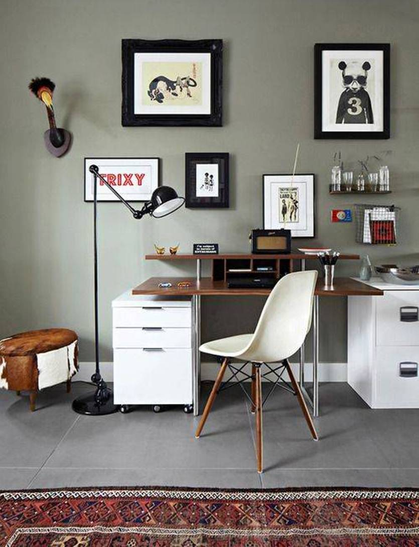 Home Office Wall Decor Brooklyn Apartment