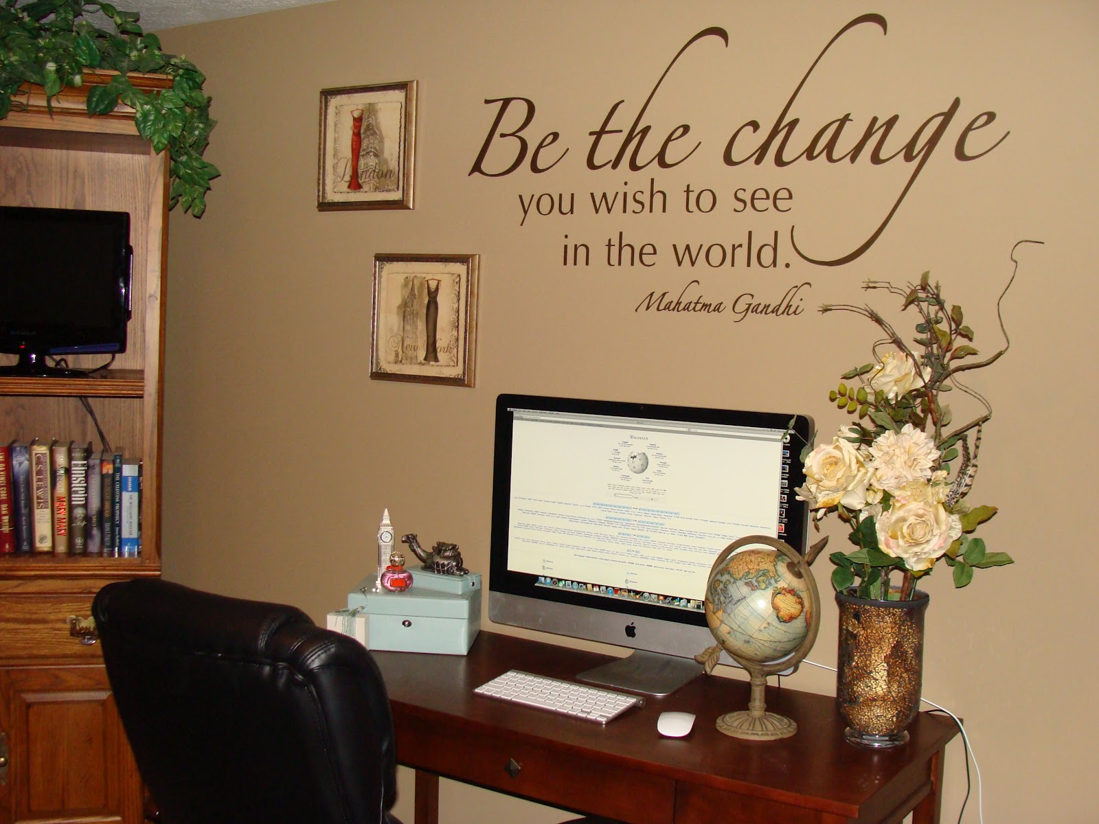 home office wall decor photo - 2