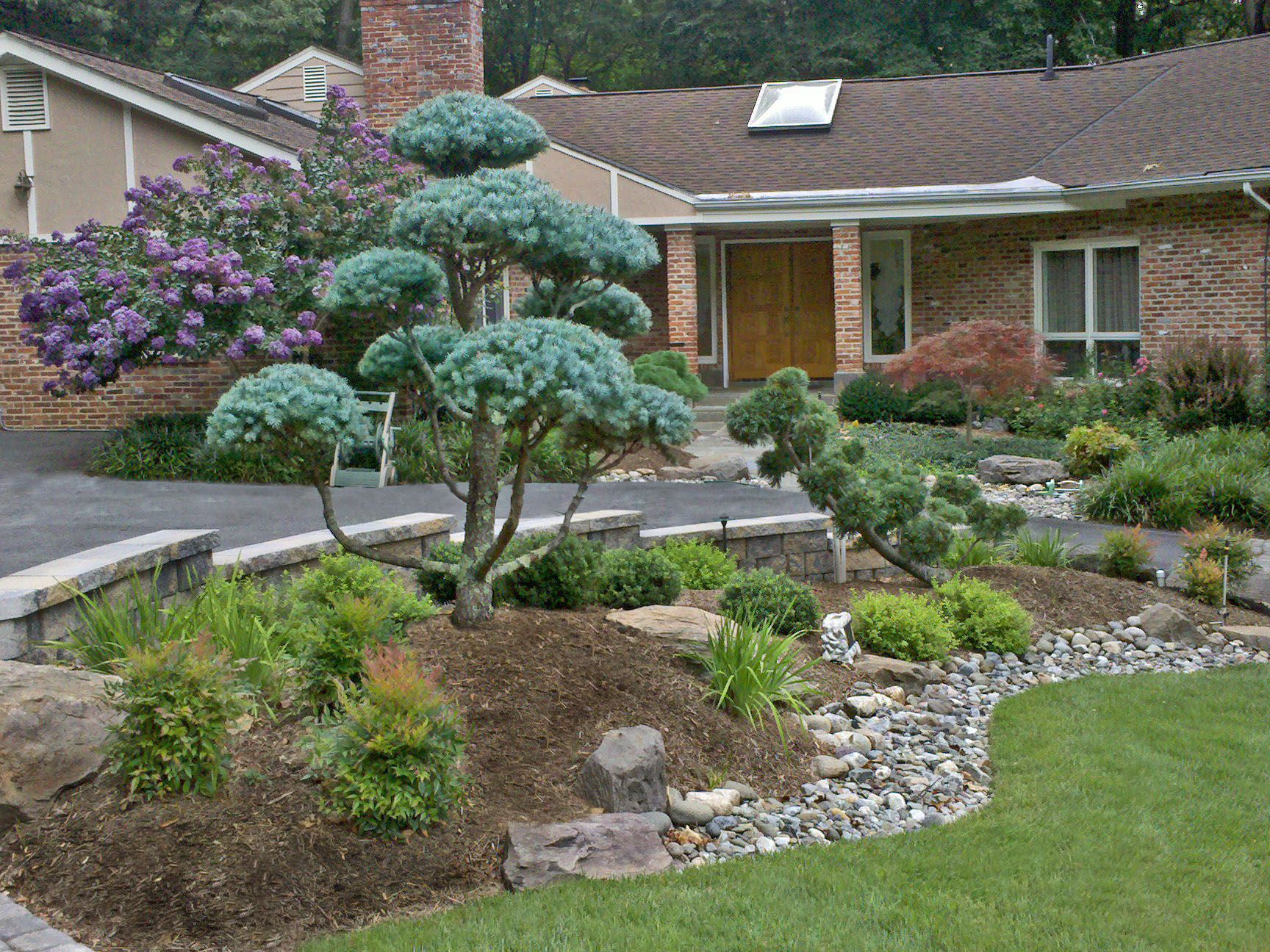 house entrance garden ideas photo - 5