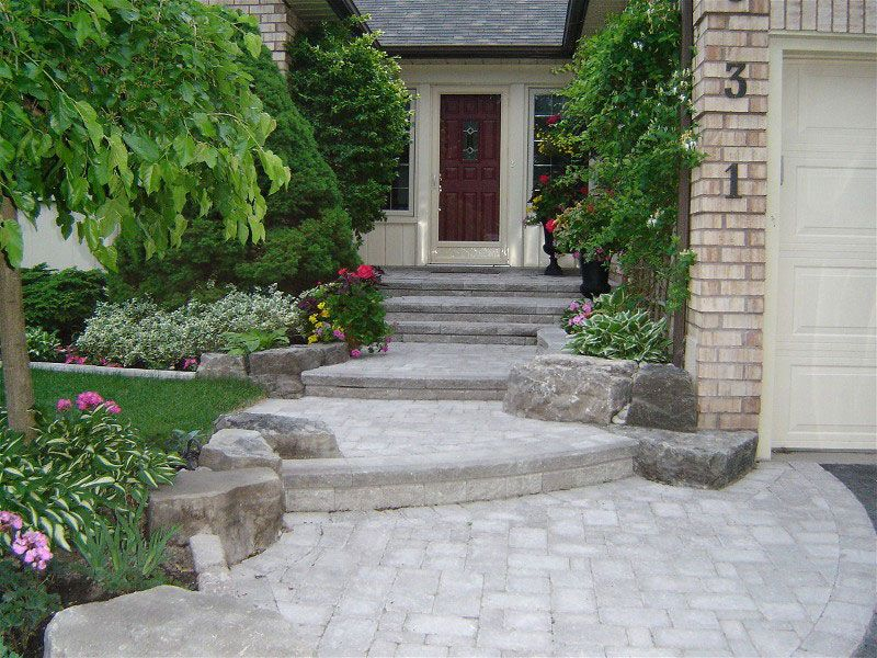 house entrance garden ideas photo - 9