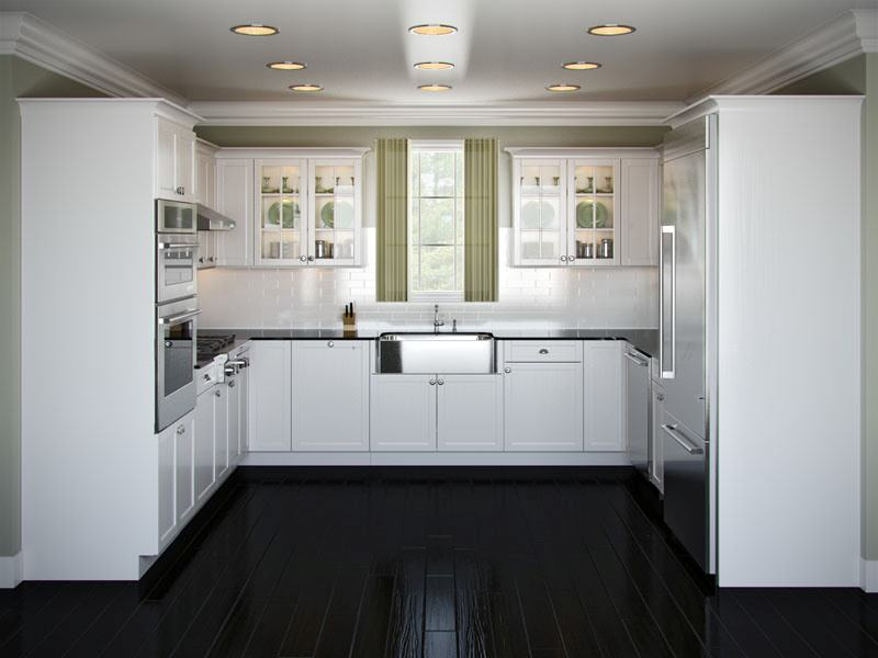 ideas for u shaped kitchen photo - 1