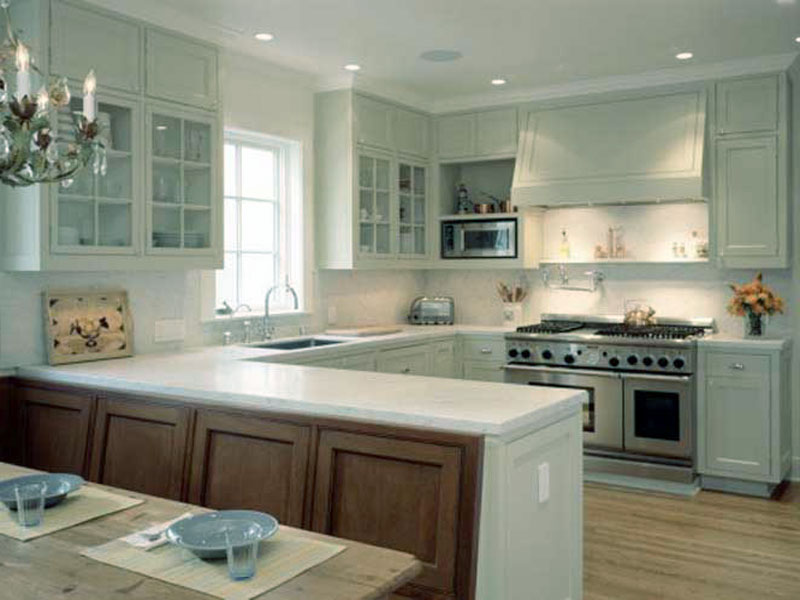 ideas for u shaped kitchen photo - 4
