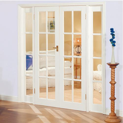 interior french doors white photo - 10