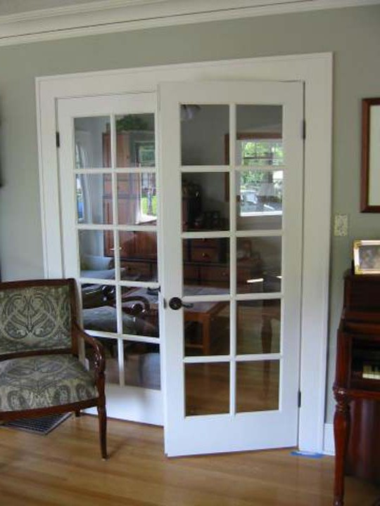 interior french doors white photo - 4