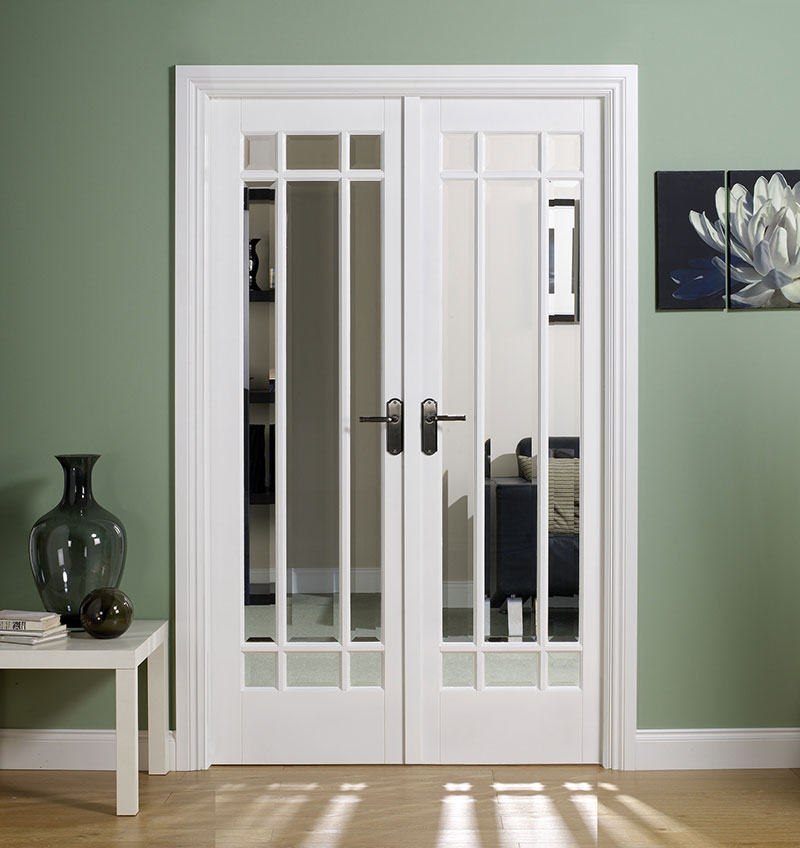 interior french doors white photo - 7