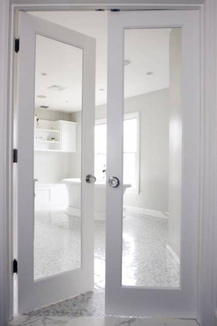 interior french doors white photo - 8
