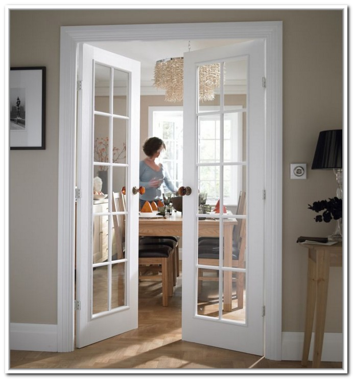 interior french doors white photo - 9