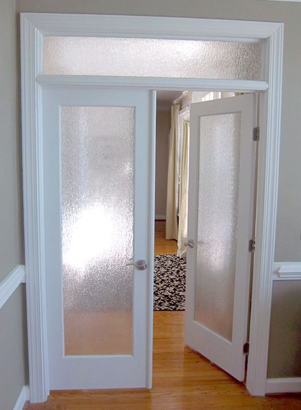 interior french doors with rain glass photo - 10