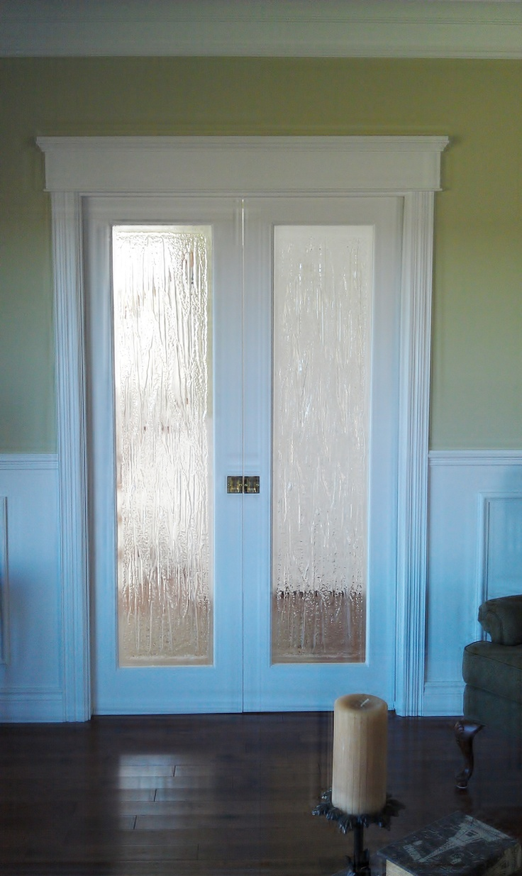 interior french doors with rain glass photo - 6