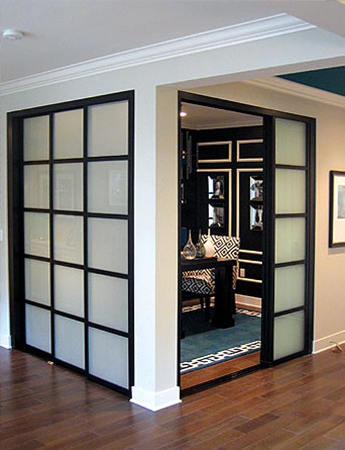 interior sliding doors room dividers photo - 6