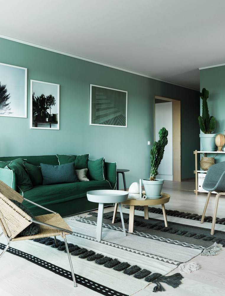 interior wall paint green photo - 1