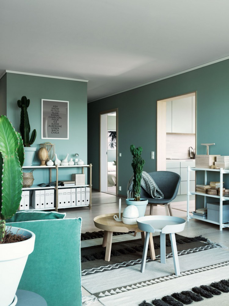 interior wall paint green photo - 2