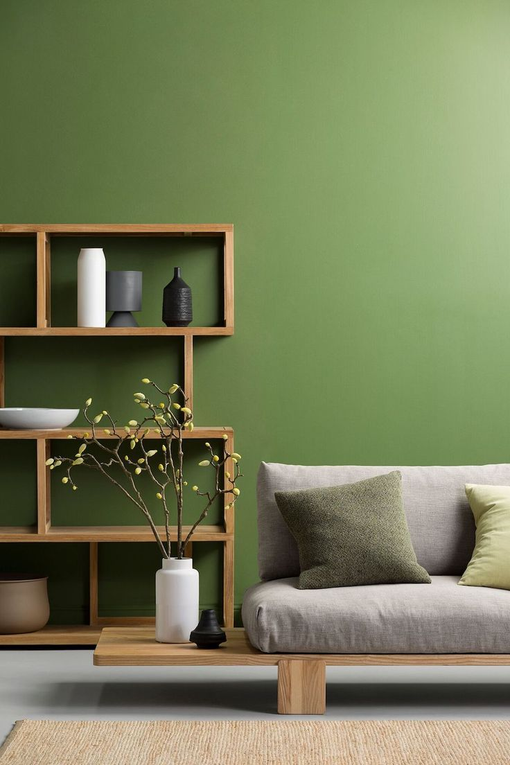 interior wall paint green photo - 3