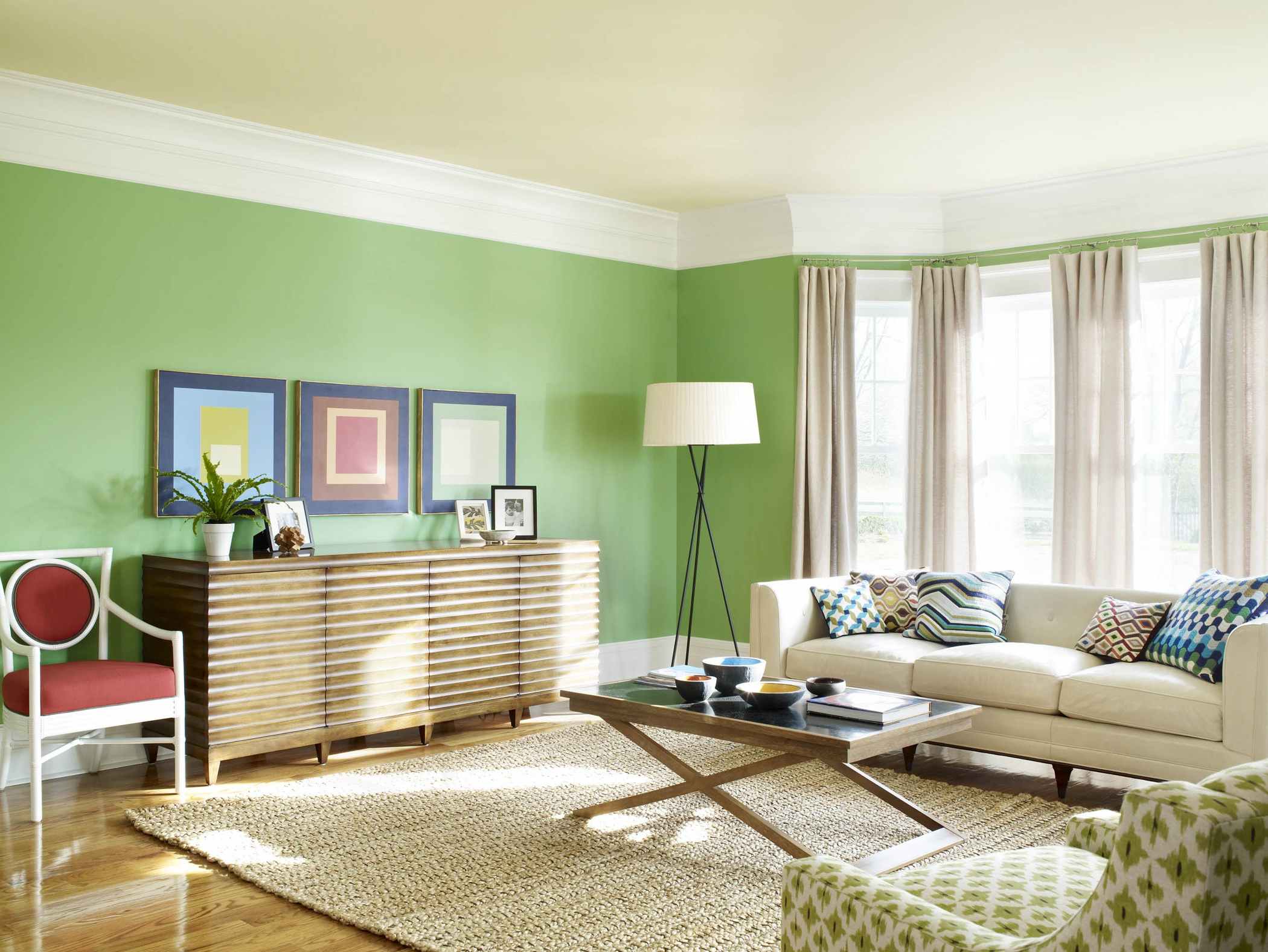 interior wall paint green photo - 5