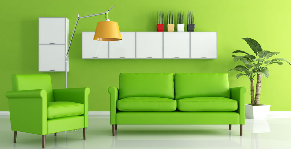 interior wall paint green photo - 8