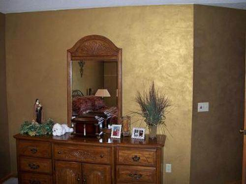 interior wall paint metallic photo - 9