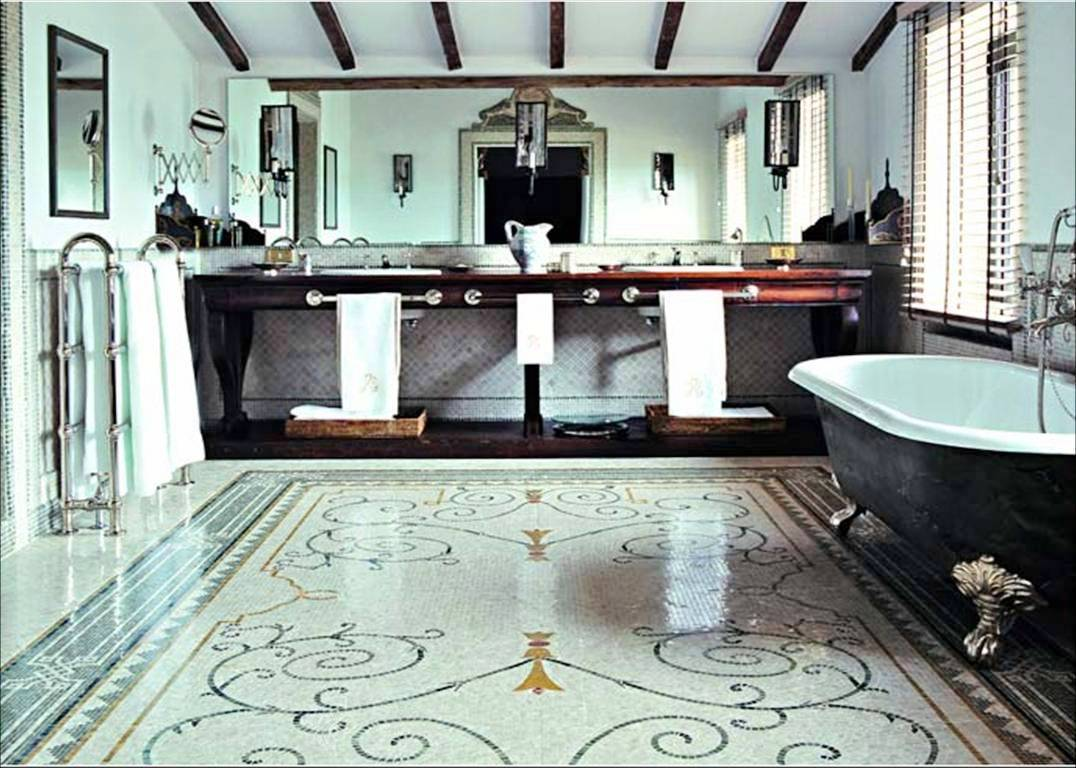 italian bathroom tile design photo - 3
