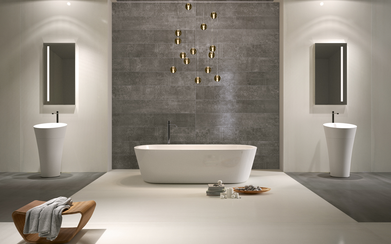 italian porcelain tile bathroom photo - 3