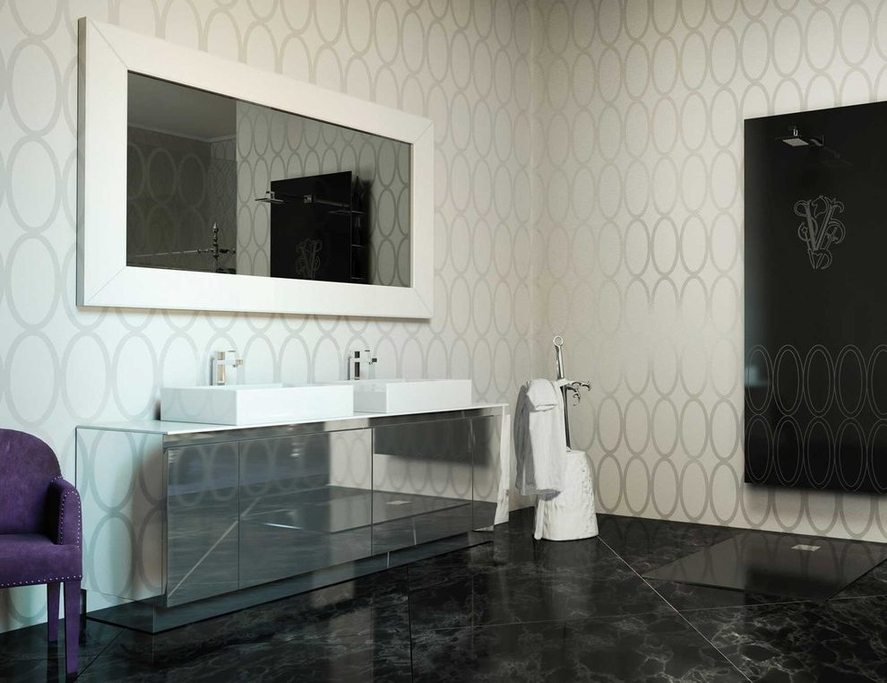 italian porcelain tile bathroom photo - 4
