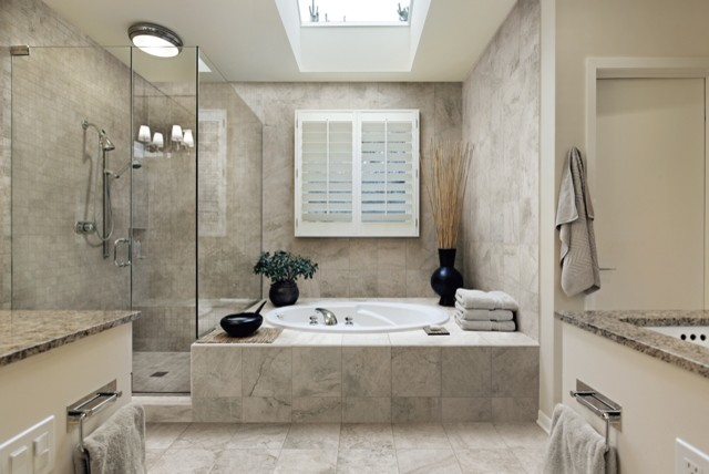 italian porcelain tile bathroom photo - 5