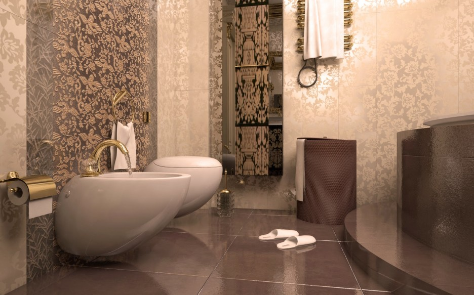 italian porcelain tile bathroom photo - 8