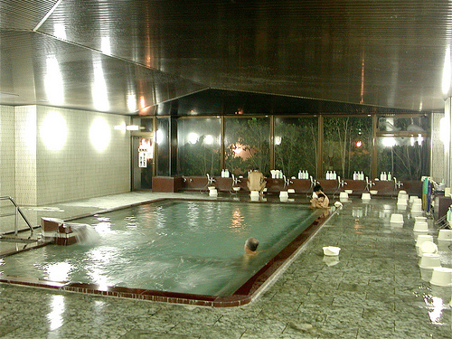japanese bath house interior photo - 2