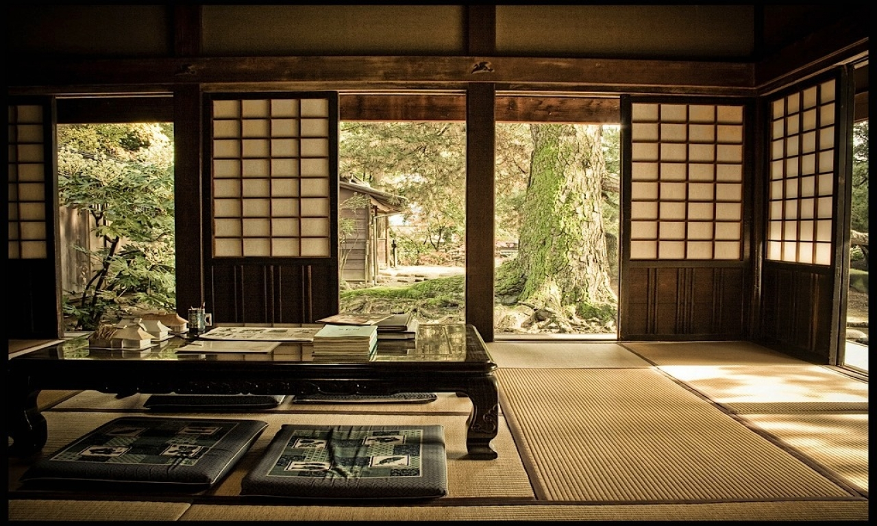 japanese style house interior photo - 9